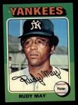 1975 Topps #321  Rudy May  Front Thumbnail