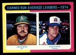 1975 Topps #311   -  Catfish Hunter / Buzz Capra ERA Leaders Front Thumbnail