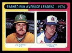 1975 Topps #311  ERA Leaders  -  Catfish Hunter / Buzz Capra Front Thumbnail