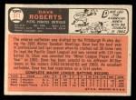1966 Topps #571   Dave Roberts Back Thumbnail