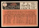 1966 #285  Luis Tiant  Back Thumbnail