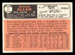 1966 Topps #80   Dick Allen Back Thumbnail