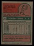 1975 Topps #181   Fred Beene Back Thumbnail