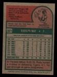 1975 Topps #321   Rudy May Back Thumbnail