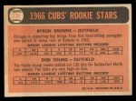 1966 Topps #139  Cubs Rookies  -  Bryon Brown / Don Young Back Thumbnail
