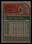 1975 Topps #303   Grant Jackson Back Thumbnail
