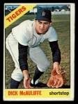 1966 Topps #495  Dick McAuliffe  Front Thumbnail