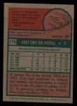 1975 Topps #176  Burt Hooton  Back Thumbnail