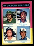 1975 Topps #310  Victory Leaders  -  Catfish Hunter / Ferguson Fergie Jenkins / Andy Messersmith / Phil Niekro Front Thumbnail