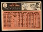 1966 Topps #111  Gary Peters  Back Thumbnail