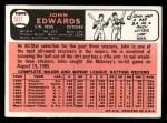 1966 Topps #507   John Edwards Back Thumbnail