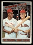 1966 Topps #52  Power Plus  -  Wes Covington / Johnny Callison Front Thumbnail