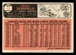 1966 Topps #474   Dick Schofield Back Thumbnail