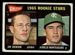 1965 Topps #286  Athletics Rookies  -  Jim Dickson / Aurelio Monteagudo Front Thumbnail