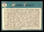 1965 Topps #32  Herman Franks  Back Thumbnail