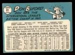 1965 Topps #81  Don Buford  Back Thumbnail