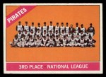 1966 Topps #404 COR Pirates Team  Front Thumbnail