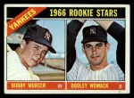 1966 Topps #469   -  Bobby Murcer / Dooley Womack Yankees Rookies Front Thumbnail