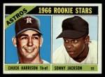 1966 Topps #244  Astros Rookies  -  Sonny Jackson / Chuck Harrison Front Thumbnail