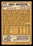 1968 Topps #13   Chuck Hartenstein Back Thumbnail