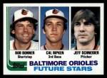 1982 Topps #21   Cal Ripken Jr / Bob Bonner / Jeff Schneider Front Thumbnail