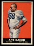 1961 Topps #163  Art Baker  Front Thumbnail