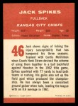 1963 Fleer #46   Jack Spikes Back Thumbnail