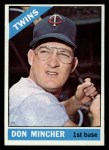 1966 Topps #388   Don Mincher Front Thumbnail
