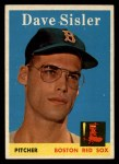 1958 Topps #59 COR Dave Sisler  Front Thumbnail