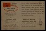 1954 Bowman #119   Ray Smith Back Thumbnail