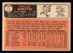 1966 Topps #438   Willie Smith Back Thumbnail