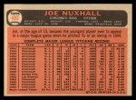 1966 Topps #483  Joe Nuxhall  Back Thumbnail