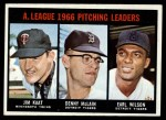 1967 Topps #235  AL Pitching Leaders  -  Jim Kaat / Denny McLain / Earl Wilson Front Thumbnail