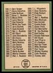 1967 Topps #531  Checklist 7  -  Brooks Robinson Back Thumbnail