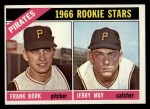 1966 Topps #123  Pirates Rookies  -  Frank Bork / Jerry May Front Thumbnail