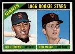 1966 Topps #524  Giants Rookies  -  Don Mason / Ollie Brown Front Thumbnail
