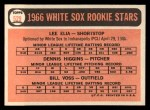 1966 Topps #529  White Sox Rookies  -  Dennis Higgins / Bill Voss / Lee Elia Back Thumbnail