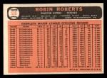 1966 Topps #530   Robin Roberts Back Thumbnail