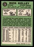 1967 Topps #138   Dick Kelley Back Thumbnail