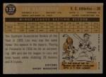 1960 Topps #137  Rookies  -  Lou Klimchock Back Thumbnail