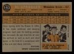 1960 Topps #143  Rookies  -  Al Spangler Back Thumbnail
