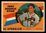 1960 Topps #143  Rookies  -  Al Spangler Front Thumbnail