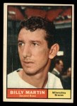 1961 Topps #89  Billy Martin  Front Thumbnail