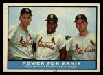 1961 Topps #451  Power for Ernie  -  Daryl Spencer / Bill White / Ernie Broglio Front Thumbnail