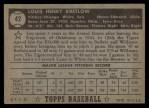 1952 Topps #42 BLK Lou Kretlow  Back Thumbnail