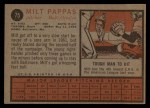 1962 Topps #75  Milt Pappas  Back Thumbnail