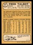 1968 Topps #577  Fred Talbot  Back Thumbnail