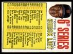 1967 Topps #454 COR Checklist 6  -  Juan Marichal Front Thumbnail