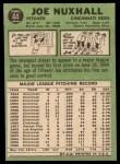 1967 Topps #44  Joe Nuxhall  Back Thumbnail
