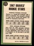 1967 Topps #123   Pirates Rookie Stars  -  Jim Price / Luke Walker Back Thumbnail